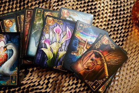 JUNARY 24, 2019 - SAINT PETERBURG, RUSSIA: lenormand cards by Ciro Marchetti . studio shot Editorial