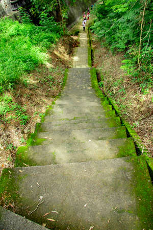 stairs with moss in Tomb of the Imogiri Kings on yogyakarta