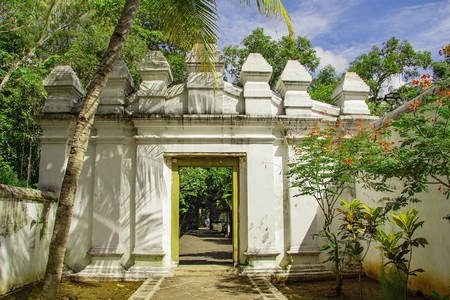 white gate Tomb of the Imogiri Kings on yogyakarta Stock fotó
