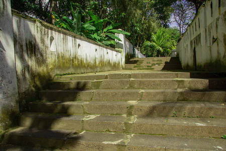 stairs to enter Tomb of the Imogiri Kings on yogyakarta