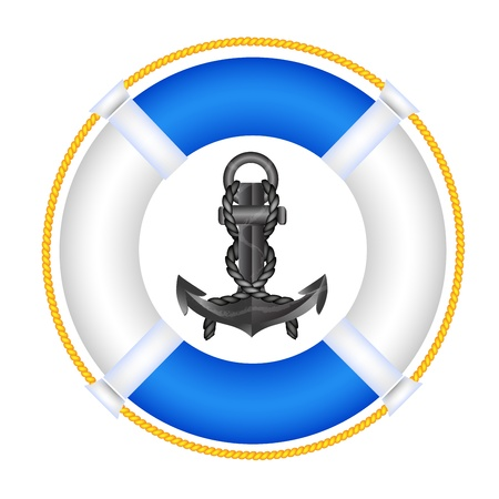 naval: Lifebuoy with anchor