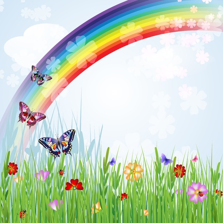 Springtime background 일러스트