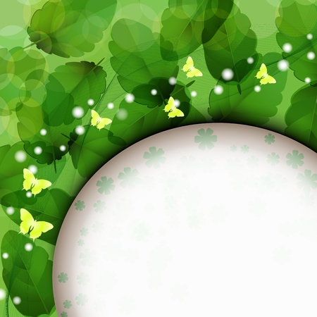 Background with nature green leaves Stock Vector - 14477055
