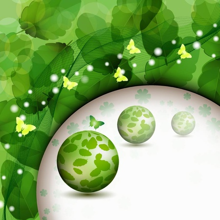 Background with nature green leaves Stock Vector - 14477056