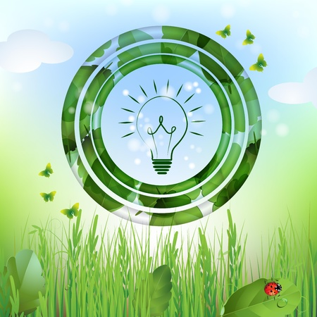 Eco bulb design background Vector