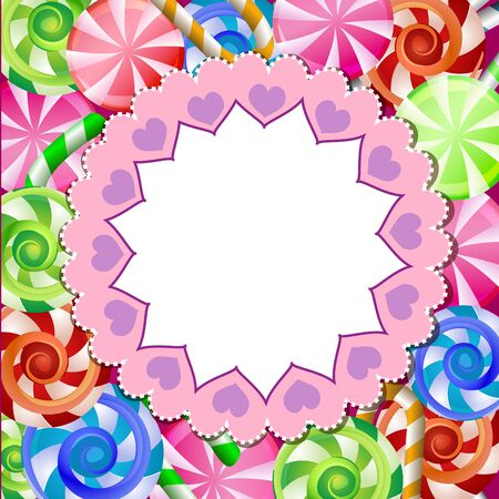 Festive background with colorful candy Vector