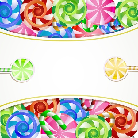 Colorful background with lollipops Vector