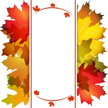 fall background: Fall leafs abstract background with place for your text Illustration