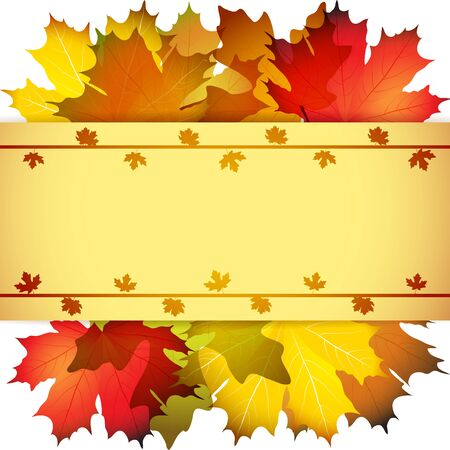 Fall leafs abstract background with place for your text Illustration