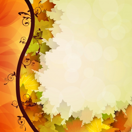 saturate: Fall leafs abstract background Illustration