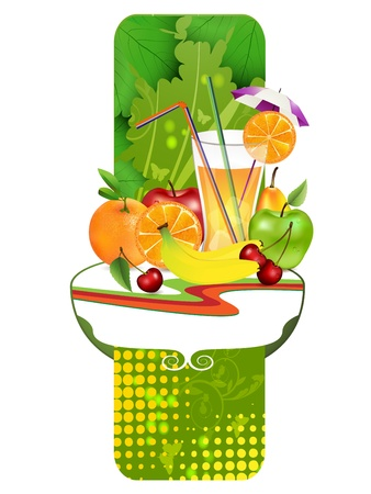 Fruits  Fresh juice,banner Stock Vector - 16294980