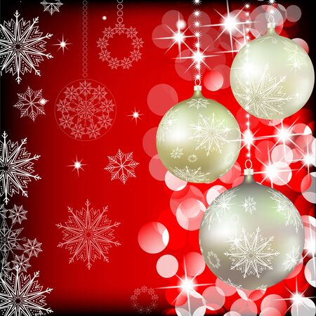 Christmas background with baubles Illustration
