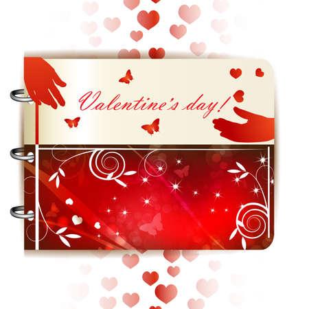 Happy Valentines day banner Stock Vector - 17043742
