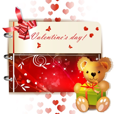 Happy Valentine s day banner with ribbon