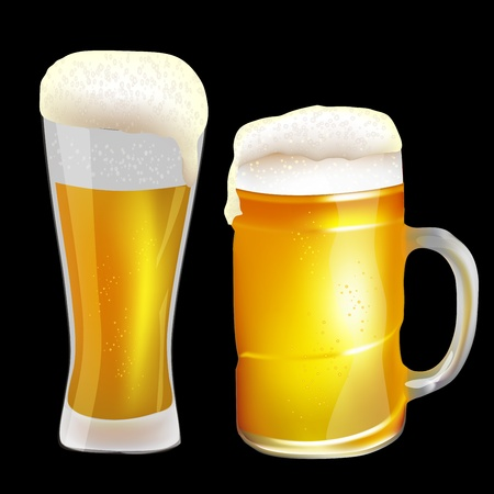 Two beer glasses Stock Vector - 18048471