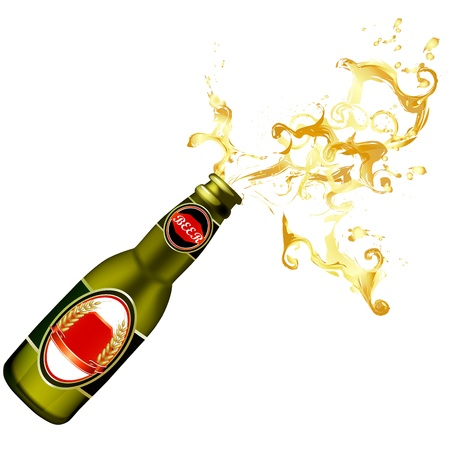 Illustration of beer bottle Vector