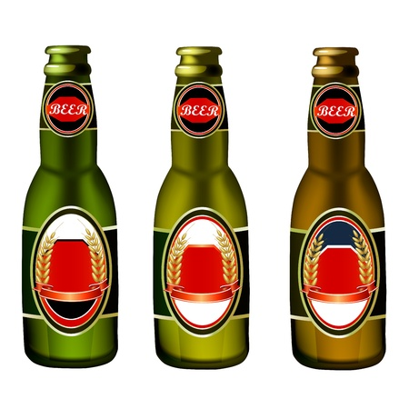 beer bottle: Illustration of beer bottle