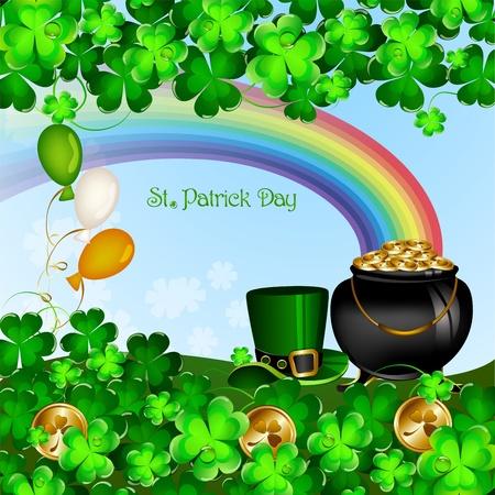 St の Patrick s 日背景  イラスト・ベクター素材