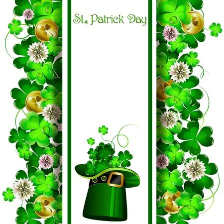 St Patrick s 当日の背景  イラスト・ベクター素材
