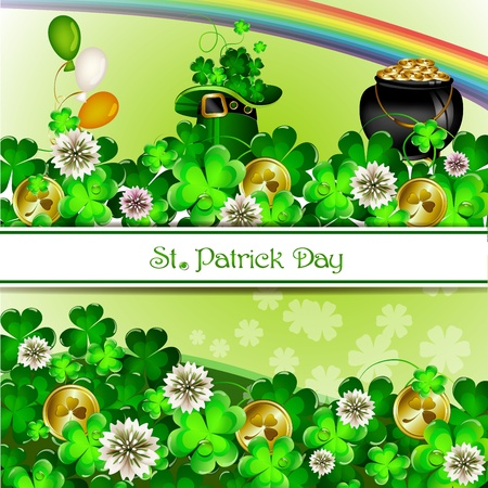 St Patrick s Day background Stock Vector - 18048366