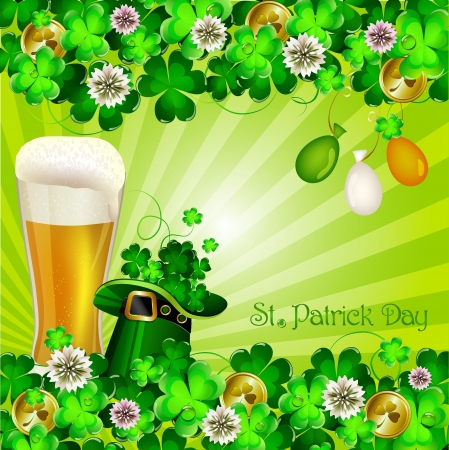 St Patrick s Day background Stock Vector - 18048397