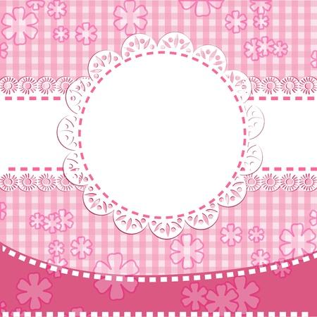 Baby girl arrival card Illustration