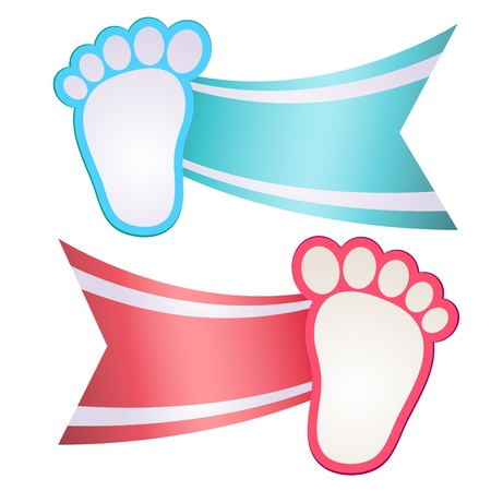 Baby Shower Invitation Feet Vector