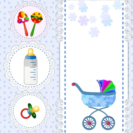 Baby shower with carriage and toys