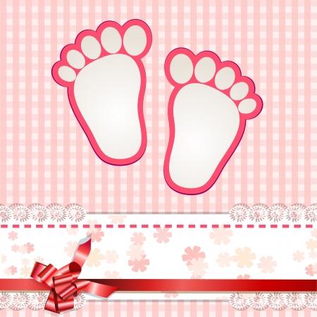 かわいい赤ちゃんの到着カード