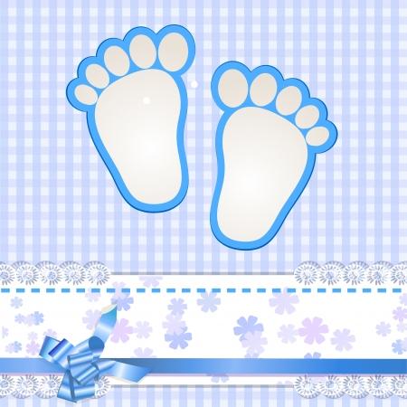 Cute baby arrival card Ilustracja