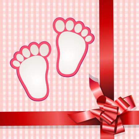 Cute baby arrival card 일러스트