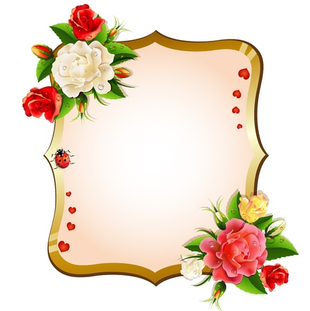 Frame with roses Illustration