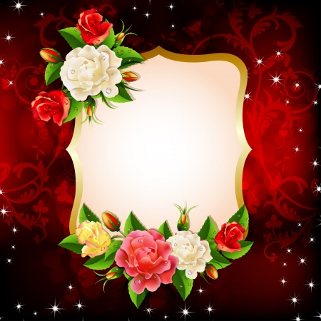 Frame with roses Stock Vector - 20059201