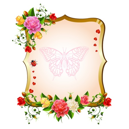 Frame with roses Stock Vector - 20059202