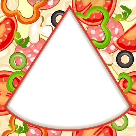 bell tomato: Pizza slice