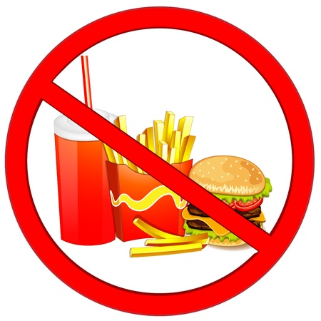 prohibiting: Fast food danger label