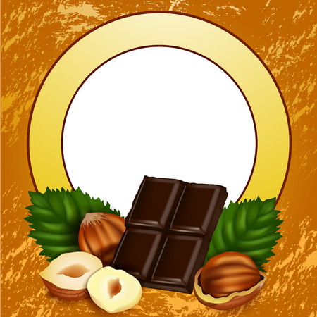 wholesome: Nuts and sweet chocolate