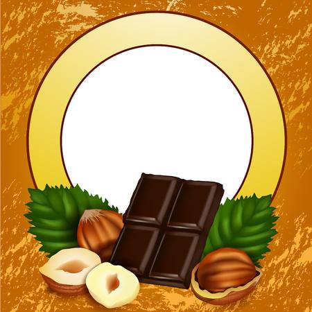 orzechów: Orzechy i słodkie czekolady