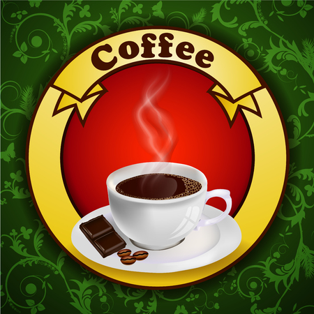Background with cup of coffee Stock Vector - 23836025
