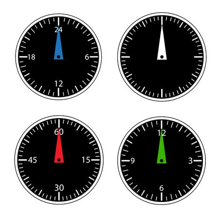 interval: Round clock icons set