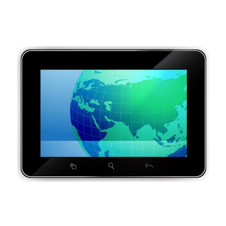 タブレットの世界地図を使用