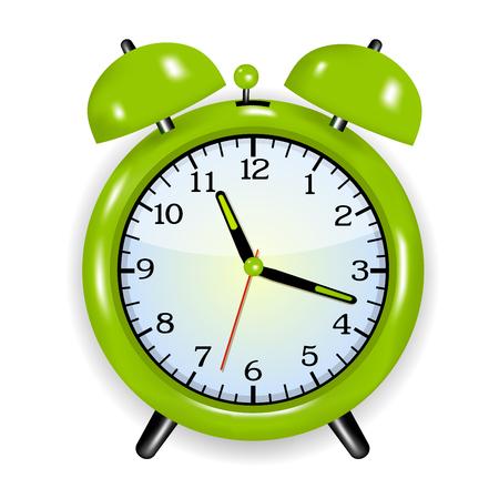Alarm clock  green Vector