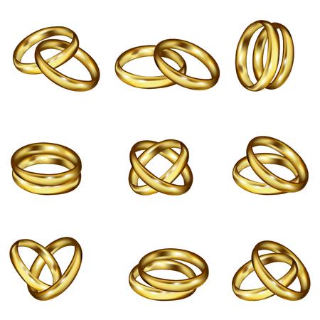 silver wedding anniversary: Wedding rings