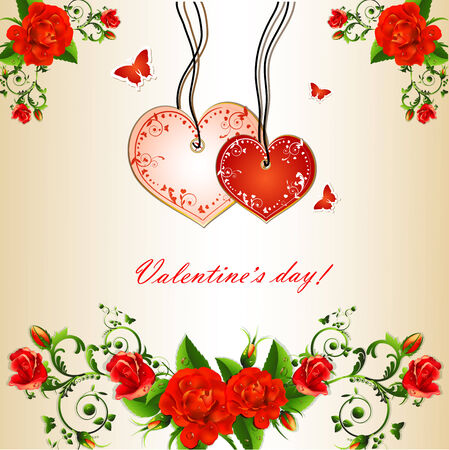 Valentine s day background Illustration