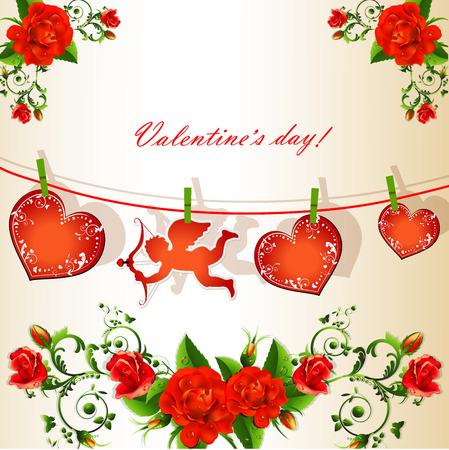 バレンタインの s 日の背景
