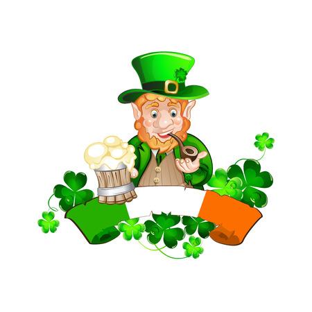 Cute cartoon Leprechaun  St Patricks Day