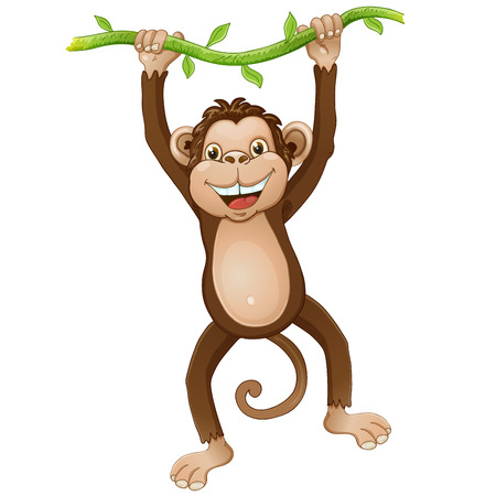 cartoon monkey: Funny monkey cartoon