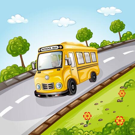 field and sky: School Bus