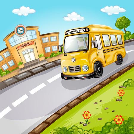 School bus  Welcome back to school  Vector