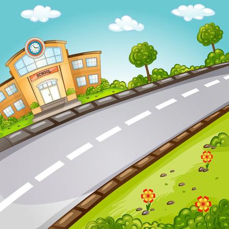 School  Welcome back to school  Illustration